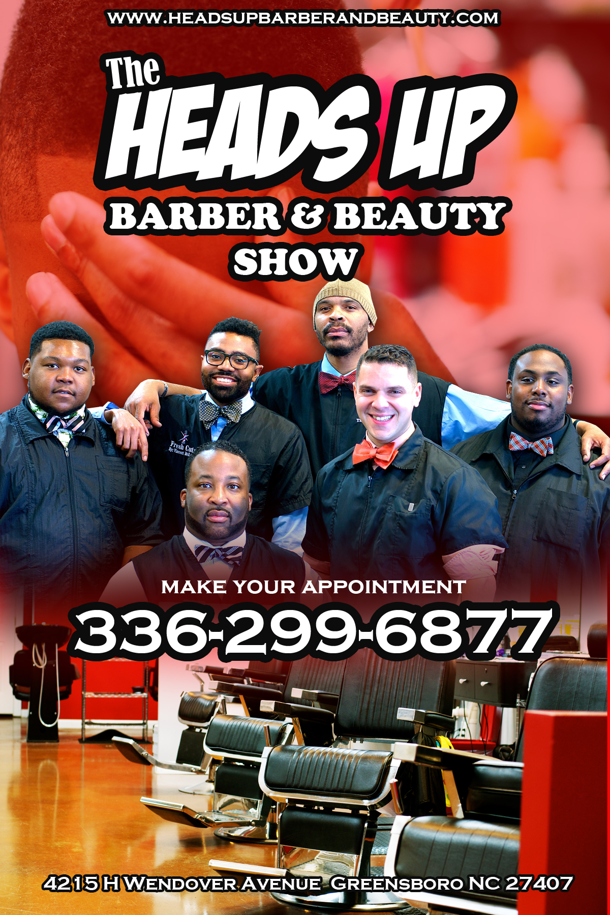 The Heads Up Barbershop Show in Greensboro NC